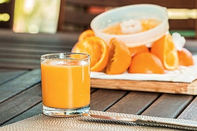 Smoothie, pomerančová šťáva