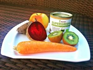 Repa, kiwi, mrkev, jablko