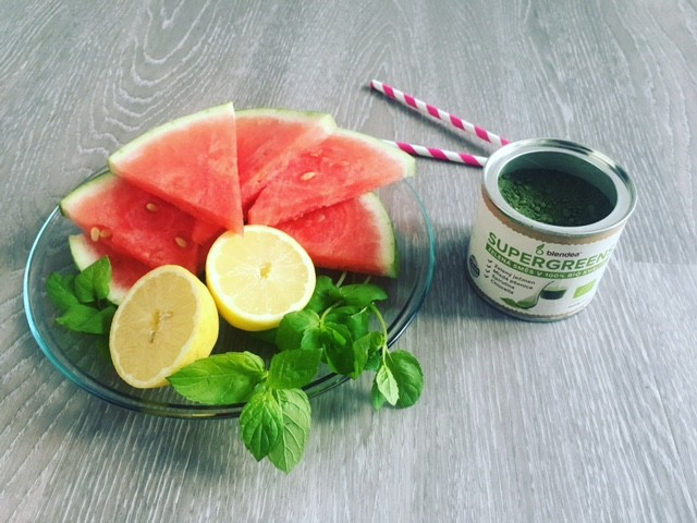 meloun s citronem a Blendeou