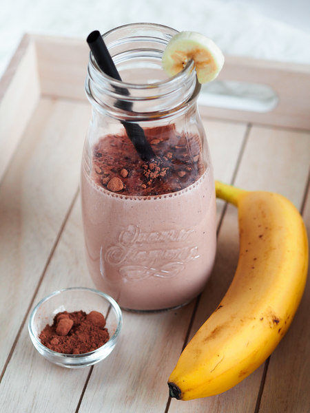 banánovo-čokoládové smoothie