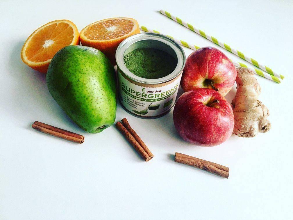 podzimní hruškovo-jablečné smoothie