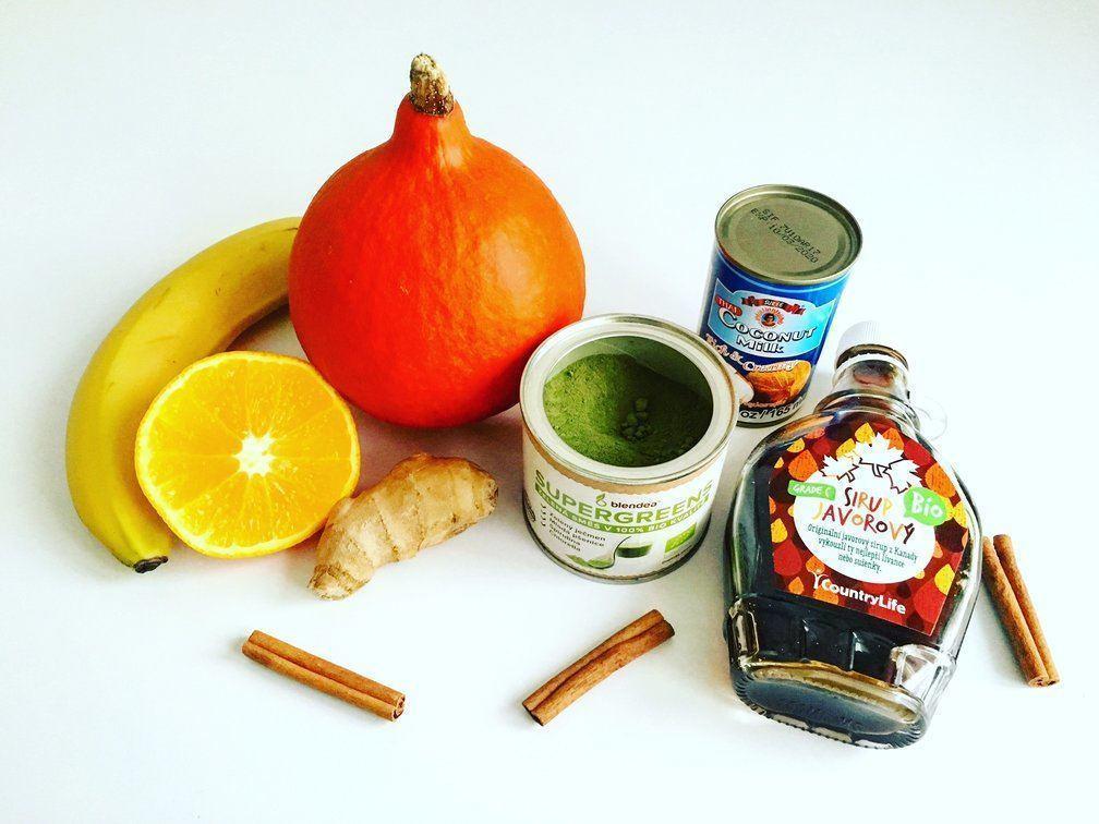 dýňové smoothie s banánem a zázvorem