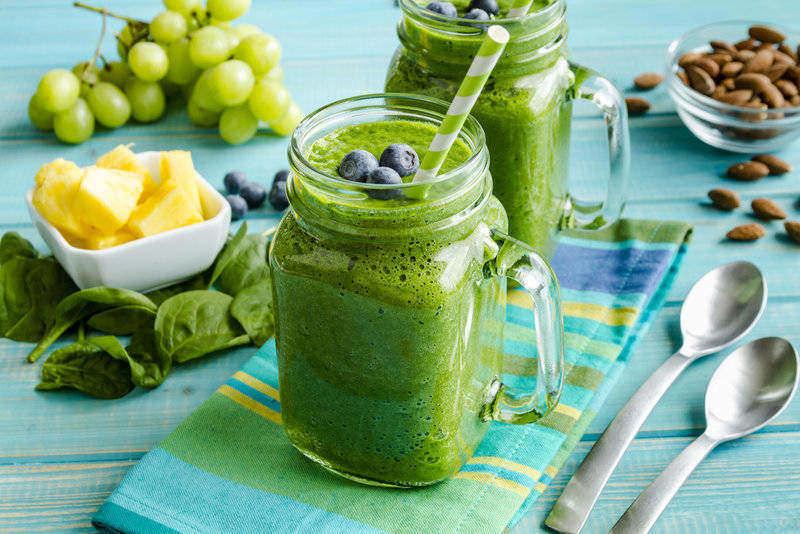 zelené smoothie s obsahem kyseliny listové