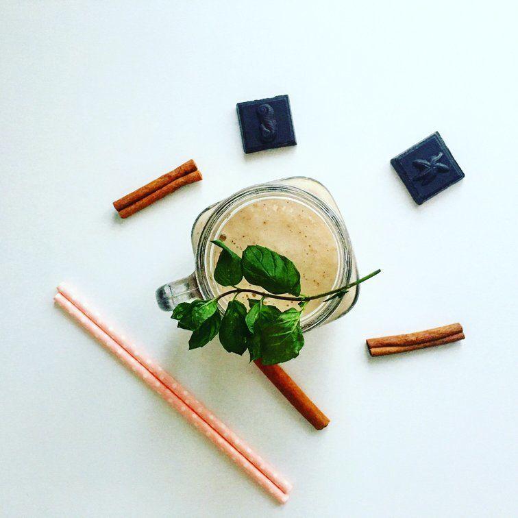 hruškové smoothie s hořkou čokoládou