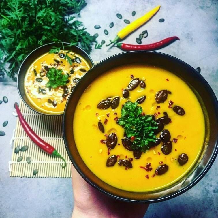 dýňová polévka z Hokaida