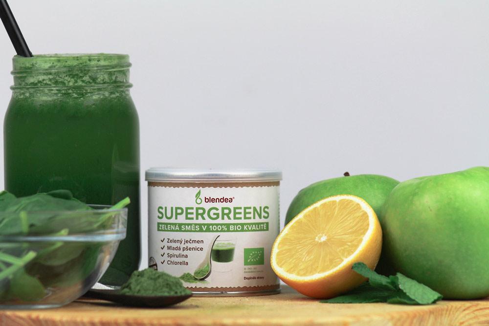 zelené detoxikační smoothie