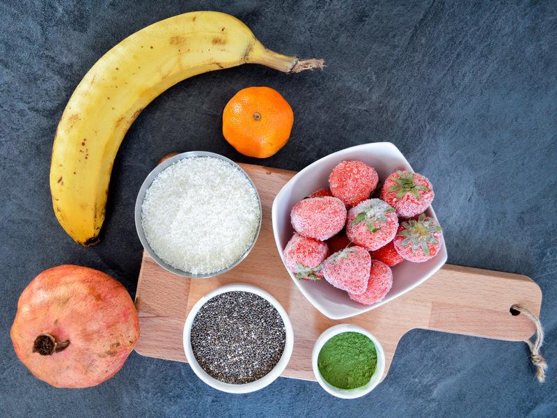 kokosovo granátové smoothie recept