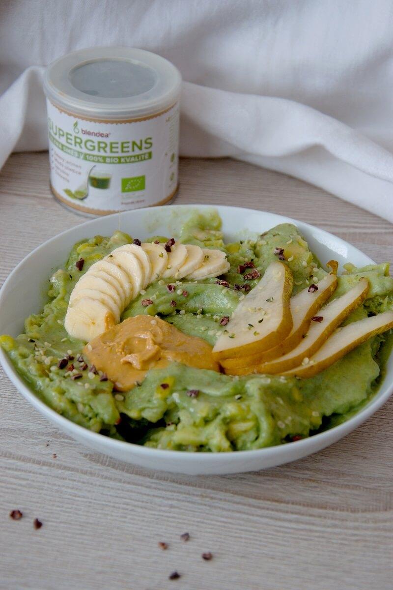 zelená ovocná zmrzlina recept