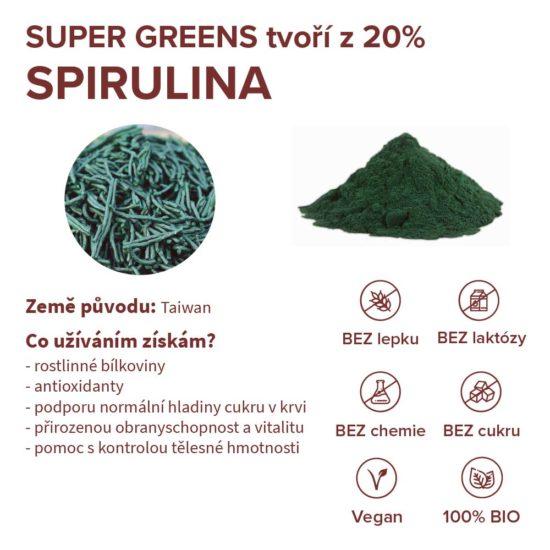 Stručné informace o ingredienci spirulina