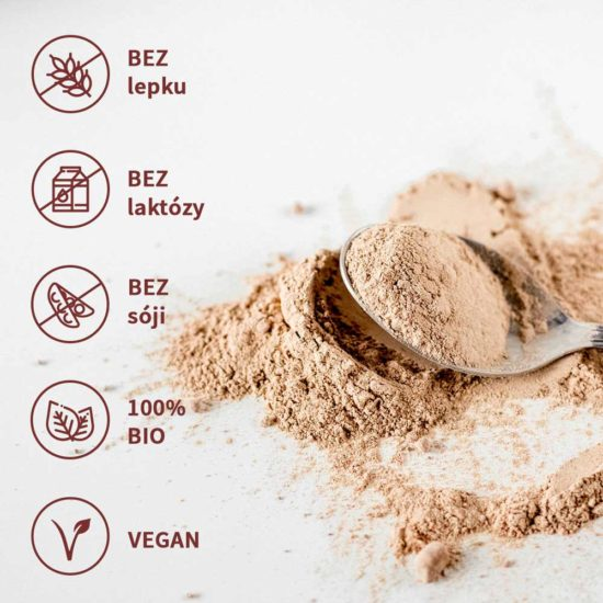 Rostlinný protein bez lepku, laktózy, sóji
