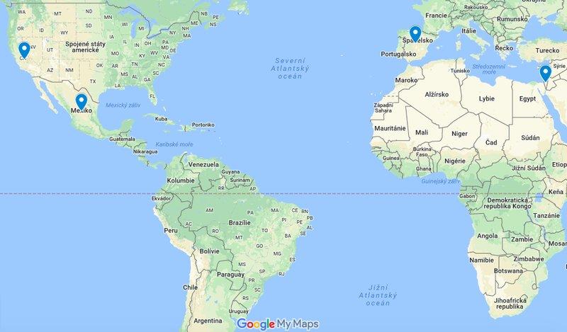 avokádo mapa