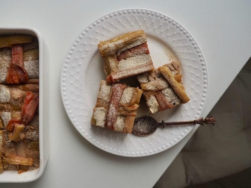 rebarborový koláč s blendeou