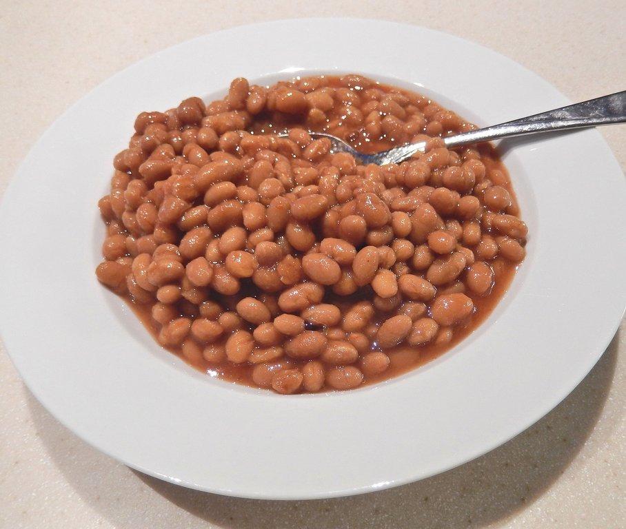 fazole s melasou