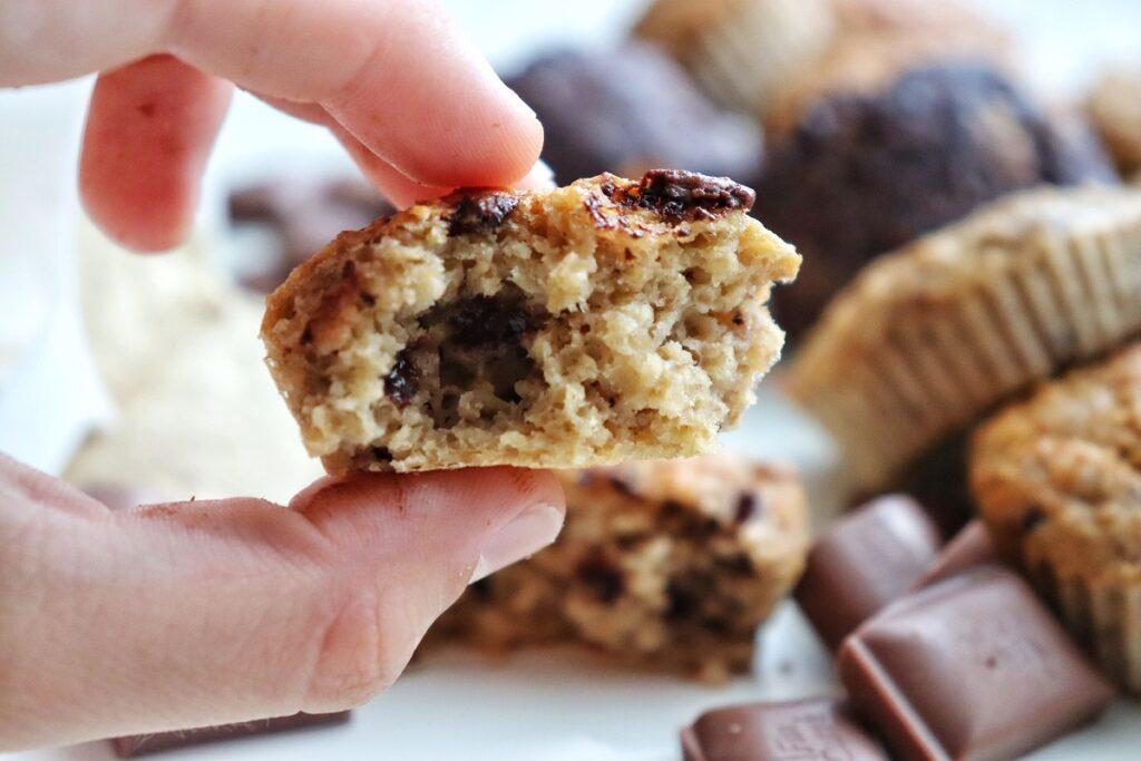 Čokoládové proteinové muffiny