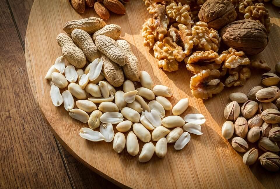 ořechy jako zdroj železa