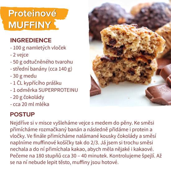 proteinové muffiny recept