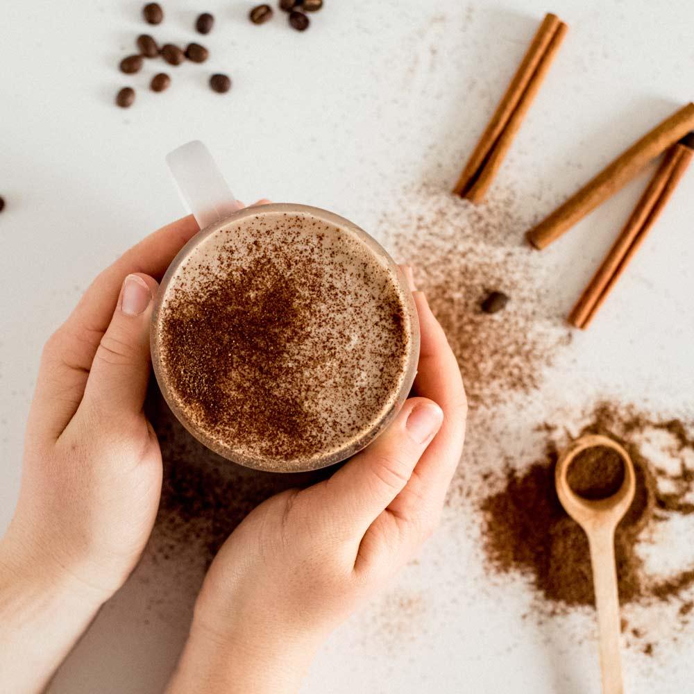 Latte z kávy s medicinálními houbami