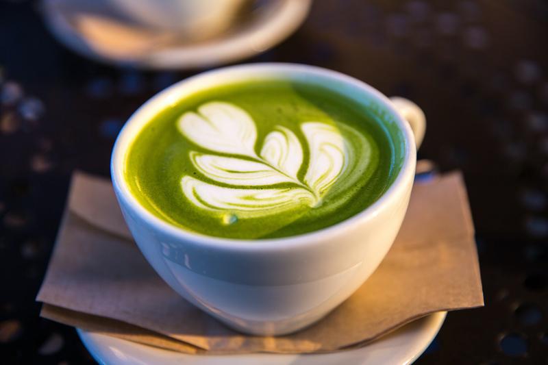 pre-workout matcha latte