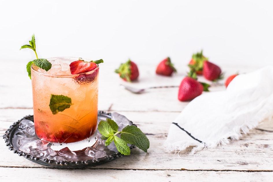 jahodové mojito bez cukru